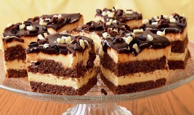 Czekoladowe ciasto ze śmietankowym kremem. Pokochasz ten słodziutki deser