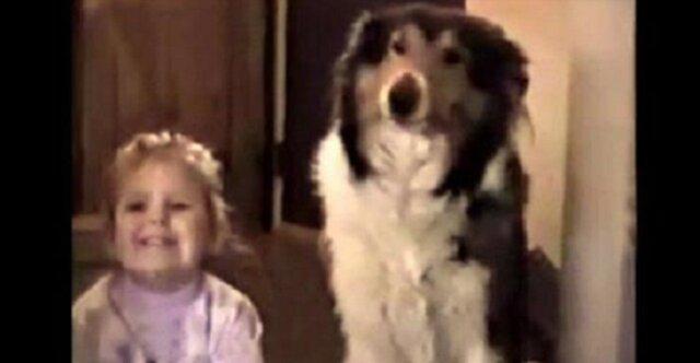 Mama poprosiła, by ta dwójka uśmiechnęła się do zdjęcia. Nie spodziewała się takiej reakcji psa