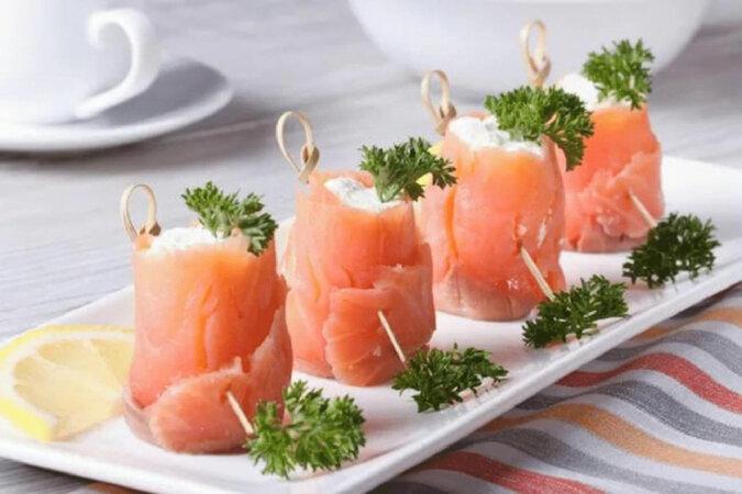 Przystawka z łososia i twarogu na świąteczny stół