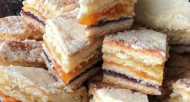Ciasto z trzema nadzieniami - podbije serce każdego łakomczucha