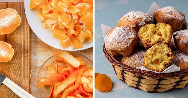 Przepis na przygotowanie babeczek z suszonymi morelami i skórką mandarynki