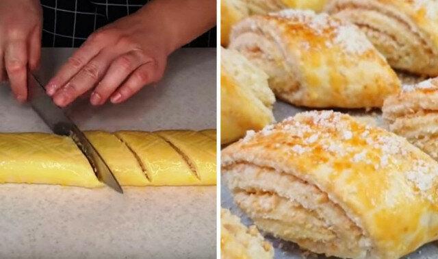 W miarę słodkie, kruche ciasteczka: po prostu zroluj i pokrój