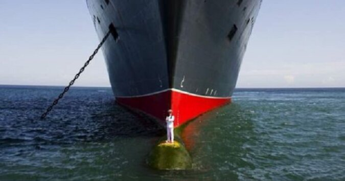 Statek Queen Mary 2 i jego kapitan Kevin Opry
