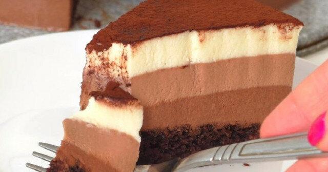 """Tort """"Trzy czekolady"""". Pycha"""