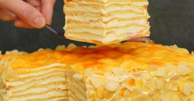 """Niesamowity domowy tort """"Plombir"""" z aromatycznym kremem. Dla wszystkich miłośników """"Napoleona"""" i """"Karpatki"""""""