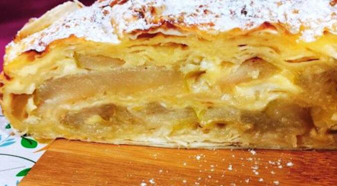 Ciasto lawaszowe z jabłkami bez ciasta: najszybsza i najłatwiejsza opcja