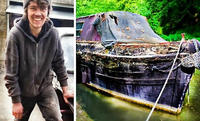 18-letni chłopiec kupił starą zniszczoną barkę i zamienił ją w luksusowy pływający dom. Rodzice byli zachwyceni