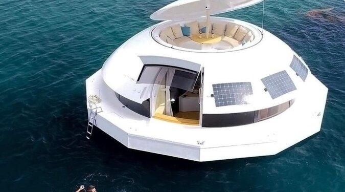 Pierwszy na świecie pływający luksusowy hotel – autonomiczna kapsuła Anthénea
