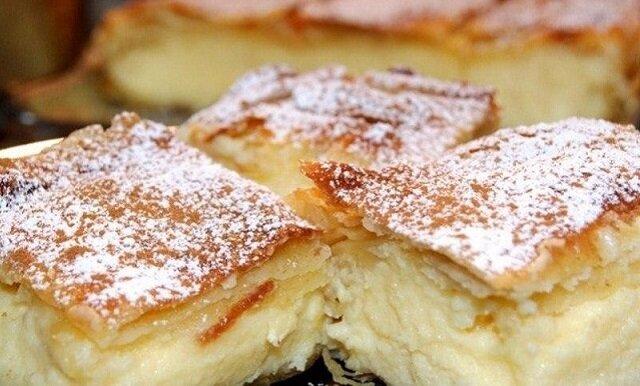 Ciasto bougatsa z kremem. Ten deser słynie z wyjątkowego smaku