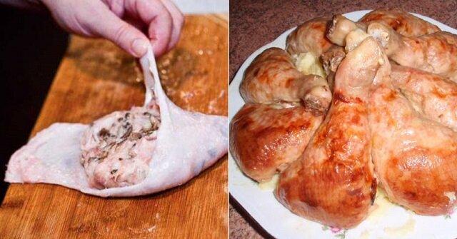 Nadziewane udka z kurczaka