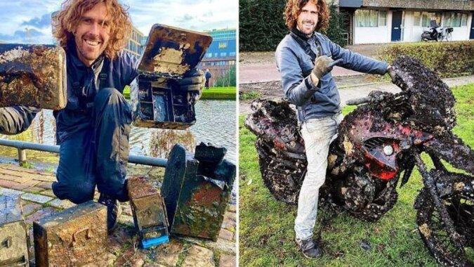 Mężczyzna podróżuje po świecie w poszukiwaniu podwodnych skarbów