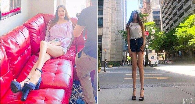 Dar natury: dziewczyna ma jedne z najdłuższych nóg na świecie