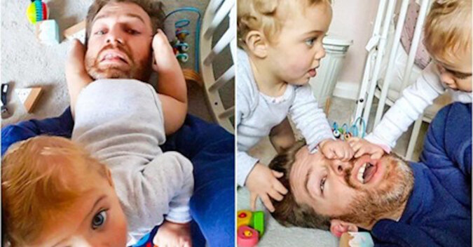 """Ojcowska codzienność: wielodzietny ojciec pokazał wszystkie """"radości"""" ojcostwa"""