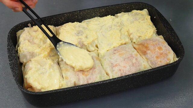 Po prostu owinęłam rybę chlebem lawasz i upiekłam w piekarniku. Proste wykonanie i bardzo smaczny effekt