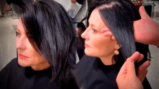 Kobieta postanowiła przefarbować swoje włosy z czarnego koloru na rudy. Rezultat jest świetny