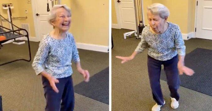 91-latka tańczy świętując ostatni dzień fizykoterapii. Zobacz ten wspaniały taniec