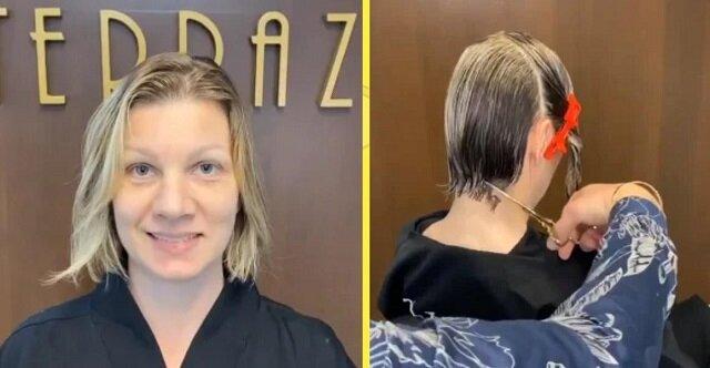 Kobieta zdecydowała się na nową fryzurę i to była słuszna decyzja