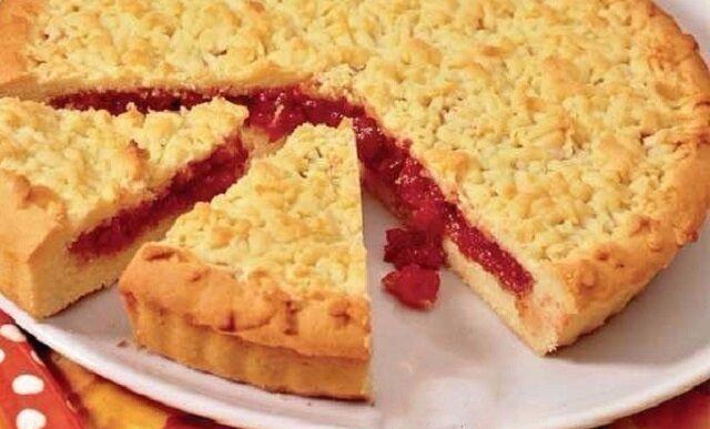"""Ciasto """"Kruszonka"""" z dżemem. Pycha"""