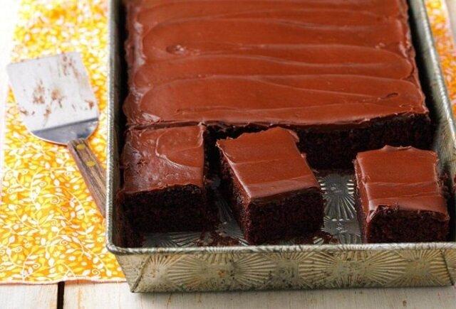 Ciasto czekoladowe. To ciasto szybko się miesza i piecze. Pycha