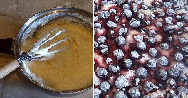 Jak zrobić ciasto twarogowe z czarną porzeczką