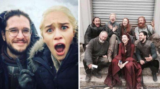 """Zdjęcia aktorów z serialu """"Gra o tron"""", zrobione między kręceniem odcinków"""