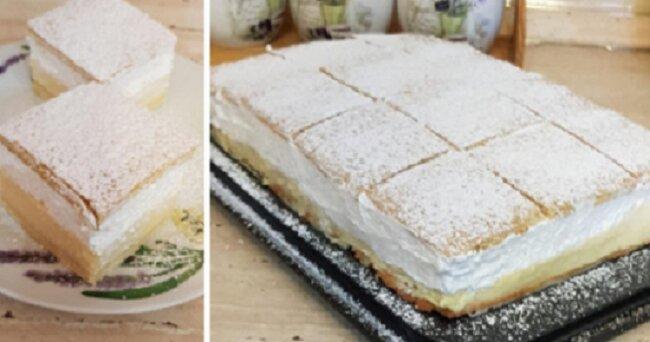 Połączenie pysznego ciasta i aksamitnego kremu powali cię na kolana, koniecznie wypróbuj to słynne ciasto