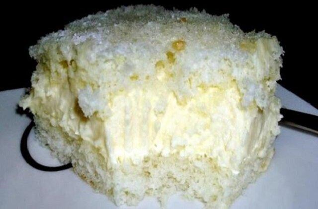 Biały obłok. Proste ciasto na białkach
