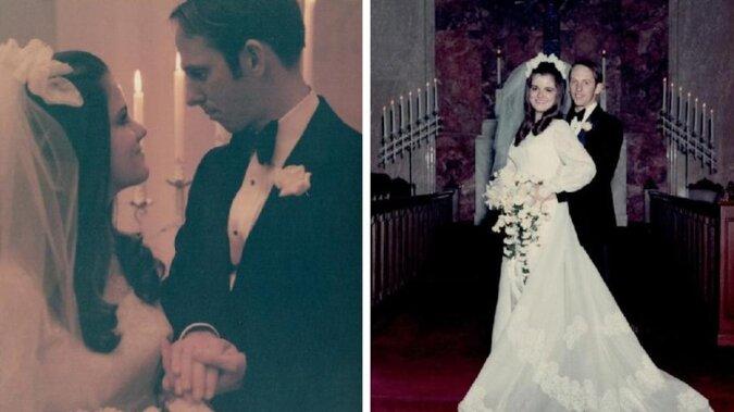 50 lat w harmonii: małżeństwo obchodziło złotą rocznicę, dokładnie powtarzając stare zdjęcia