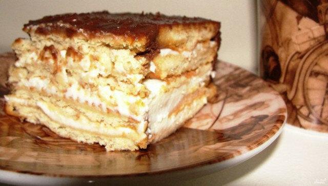 """Pyszne ciasto """"włoskie motywy"""". Smaczne i bez pieczenia"""