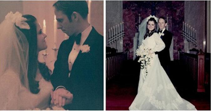 """50 lat w doskonałej harmonii: małżeństwo świętowało """"Złote Gody"""", dokładnie odtwarzając swoje stare zdjęcia"""
