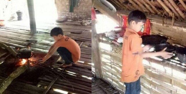 10-letni chłopiec mieszka sam, pracuje i chodzi do szkoły