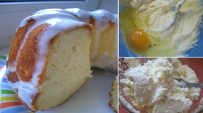 Keks twarogowy. Bardzo szybki i łatwy w przygotowaniu deser