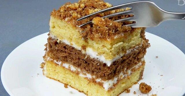 Miękkie i pyszne ciasto domowe