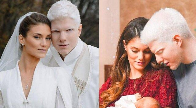 Jak wygląda dziecko tej wspaniałej pary: albinos Bera Ivanishvili i jego żona Nanuka Gudavadze