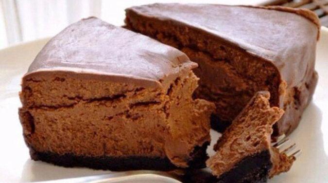 Sernik czekoladowy. Po prostu rozpływa się w ustach