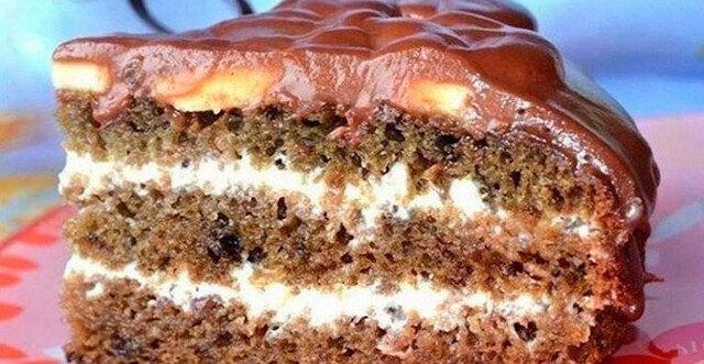Tort na kefirze z dżemem. Bardzo pyszny i prosty
