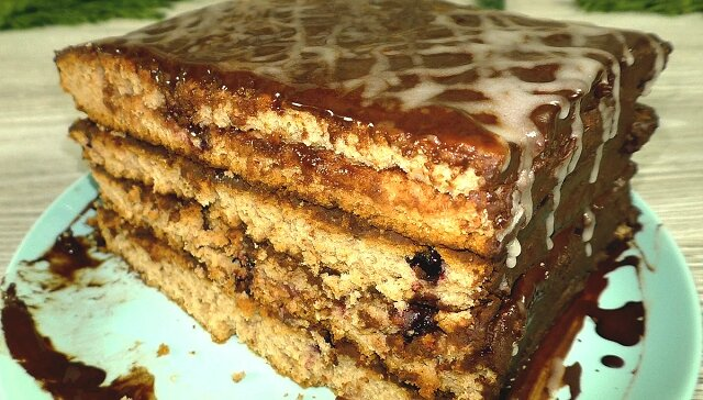 """Ciasto """"Biedny student"""". Przygotowuje się bardzo szybko, z najprostszych składników"""