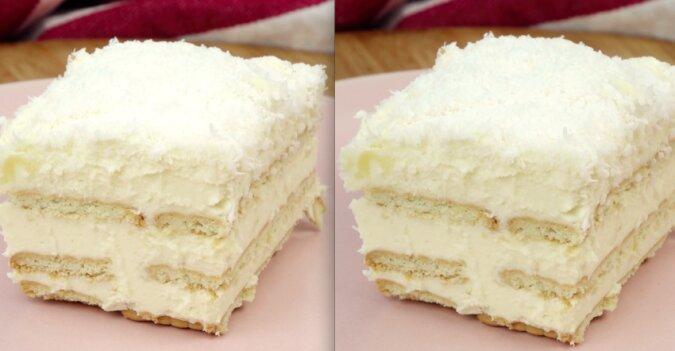 Domowe ciasto Rafaello bez pieczenia