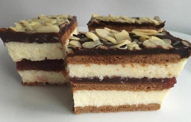 Ciasto przekładaniec bez pieczenia. Łatwe do zrobienia i bardzo smaczne ciasto