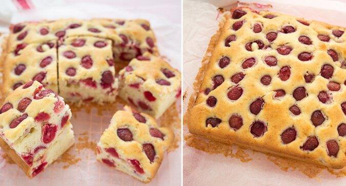 Miękkie ciasto wiśniowe: proste i pyszne