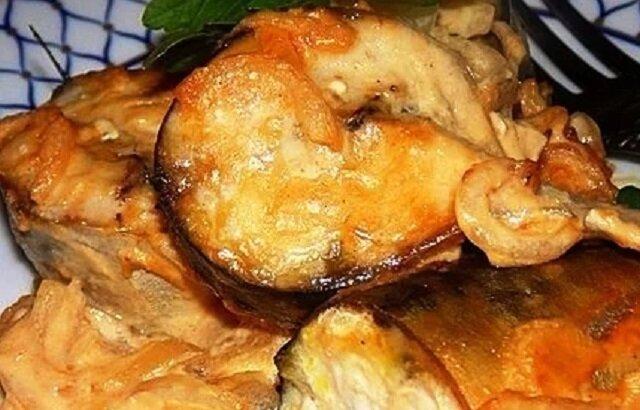 Makrela w sosie musztardowym. Pycha