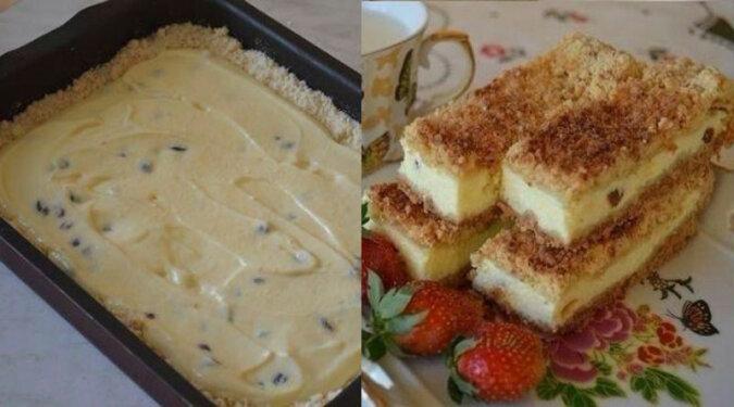Kruche ciasto z serem. Jest to jeden z najlepszych deserów na bazie seru