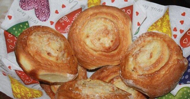 Przepis na ślimaczki z twarożkiem bez masła i bez drożdży