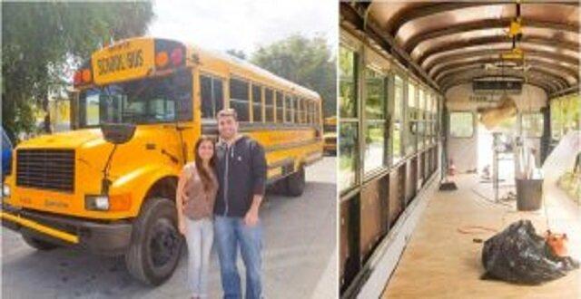 Małżeństwo przerobiło autobus szkolny w dom na kołach. Zobacz