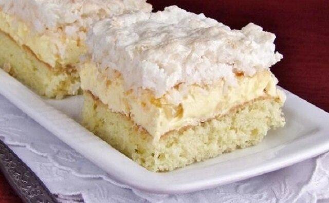 Ciasto ananasowe. Pyszne ciasto na kazde okazje