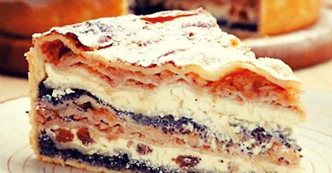 Niesamowicie pyszne ciasto bałkańskie z twarogiem i jabłkami