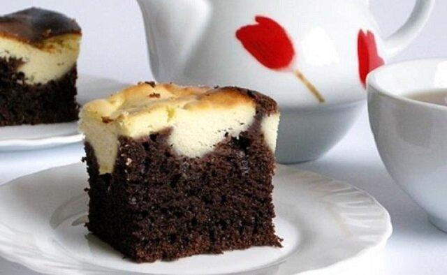 """Ciasto """"Cielaczek"""". Jest proste w wykonaniu i robi się bardzo szybko"""