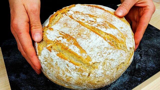 Nie kupuję już więcej chleba: piekę go, używając prostej receptury, bez wyrabiania ciasta rękami