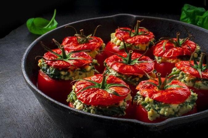 Nadziewane pomidory. Bardzo smaczne