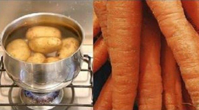 Od dziś do gotujących się ziemniaków będę wrzucać marchewkę. Szkoda, że nie wiedziałam o tym wcześnie